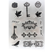 SANNYSIS Silicone Scrapbooking DIY Alphabet Transparent Clear Rubber Stamp Sheet Cling