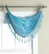 Editex Home Textiles Elaine Grommets Waterfall Valance, 90cm by 90cm , Aqua