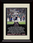 Framed Tom Brady 8x10 Print - Greatest of All Time - GOAT!