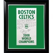 NBA Boston Celtics Framed 22x26 Paul Pierce Facsimile '2008 Champions Banner' Story Stretched Canvas