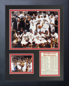 2012 Miami Heat NBA Champions Podium 28cm x 36cm Framed Photo Collage by Legends Never Die, Inc.