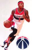 Bradley Beal Mini FATHEAD + Washington Wizards Logo Official NBA Vinyl Wall Graphic 18cm INCH