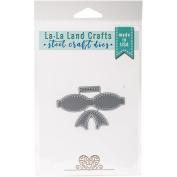 La-La Land Die-Stitched Bow 7cm x 7cm