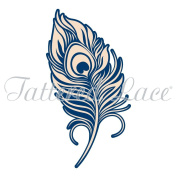Tattered Lace Whitework Peacock Feather Die TLD0163