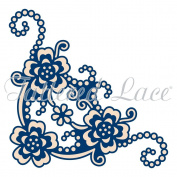 Tattered Lace Whitework Blossom Corner Die TLD0159
