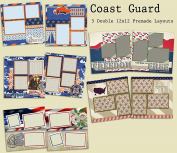 Coast Guard Scrapbook Kit - 5 Double Page Layouts