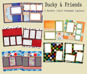 Ducky & Friends Scrapbook Kit - 5 Double Page Layouts