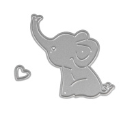 Stencil ZTY66, Metal Baby Elephant Cutting Dies / Template / DIY Mould for Scrapbook Album Paper Card