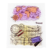 World MapTransparent Clear Silicone Stamp/seal for DIY Scrapbooking/photo Album Decorative Clear Stamp Sheets.