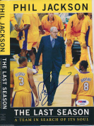 PHIL JACKSON SIGNED BOOK COVER The Last Season #AA95554 BULLS LAKERS - PSA/DNA Certified - Autographed NBA Magazines