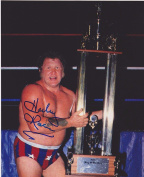Harley Race Signed WWE King of the Ring 8x10 Photo - Autographed NBA Photos