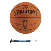 Spalding NBA Official Game Basketball + Spalding 30cm Dual Action Pump
