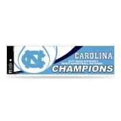 NCAA North Carolina Tar Heels 2017 Men's National Basketball Champions Bumper Sticker, Carolina Blue, White, 28cm by 7.6cm