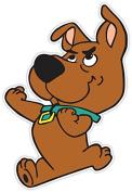 Scrappy-Doo Scooby-Doo Vinyl Sticker 10cm x 15cm Decal Puppy Dog Cartoon Scrappy Scooby Doo