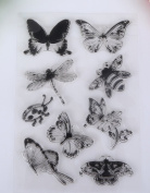 Skyseen DIY Butterfly Dragonfly Insects Clear Stamp