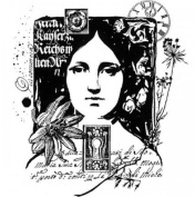 Rememberance Woman Collage Romantic Writing Stampington And Co Wooden Rubber Stamp