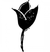 Dancing Tulip Flower Silhouette Stampington And Co Wooden Rubber Stamp