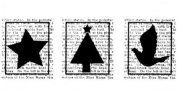 Holiday Blocks Christmas Images Tree Star Stampington And Co Wooden Rubber Stamp
