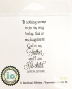 Impression Obsession IO Sentiment - His Child - Cling Mounted Rubber Stamp C13523