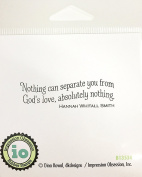 Impression Obsession IO Sentiment - Nothing Can Separate - Cling Mounted Rubber Stamp B13534