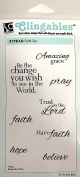 Impression Obsession IO Faith Set Cling Mounted Rubber Stamp Set 3178-LG