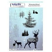 Indigoblu Cling Mounted Stamp 20cm x 14cm -Winterland Wood