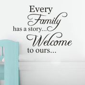 ZOMUSA Wall Stickers, Every Family Removable Art Vinyl Mural Home Art Stickers Mural Home Vinyl Family 3D House Decoration Background Decorated Decal Home Decor