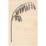 Tall Wild Oats Branch Rubber Stamp