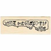 Egyptian Tablet Rubber Stamp Egypt Hieroglyphs