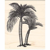 Double Fern Palm Rubber Stamp Large Palm Trees