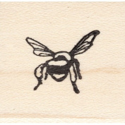 Back Side Bee Rubber Stamp Flying Insect