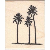 3 Far Palms Rubber Stamp Distant Palm Trees