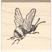 Big Bumble Bee Rubber Stamp Flying Bee Insect