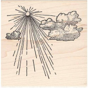 Big Sky Rubber Stamp Sun With Clouds