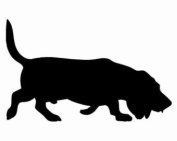Pack of 3 Basset Hound Stencils Made from 4 Ply Mat Board 11x14, 8x10, 5x7