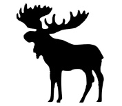 Pack of 3 Moose Style 2 Stencils Made from 4 Ply Mat Board 11x14, 8x10, 5x7