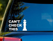 T1366 Chess - Can't Cheque This Decal Sticker - 7.6cm x 13cm - Easy to Apply - Instructions Included - Premium 6+ Year Vinyl