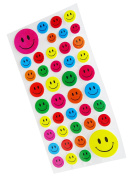 1 Packet Multicolor Smiley Stickers Create Arts and Crafts Sticker Book, Plastic, Assorted Colour, Sticker Fun Kit