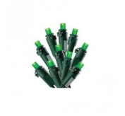 Celebrations Lights Green Bulbs Led 4.9m Indoor/Outdoor Use Green Cord