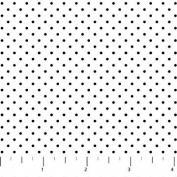 Colorworks Concepts White With Small Black Dots Northcott Cotton Fabric 21619-99