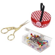 Jili Online Hand Sewing Needles Scissors +Pincushions +Pearl Pins Tailoring Crafts Accs