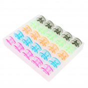 Ogrmar Multi-colour Style SA156 Sewing Machine Bobbins for Brother 25 Pack