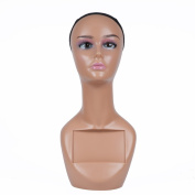 L7 MANNEQUIN Black Female Mannequin Head Bust Display For Wigs Lifestyle 46cm Number A