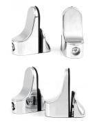 Ajustable Metal Shelf Holders Bracket, Glass Shelf Mounting Brackets / Wood Shelf Clamp