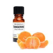 Tangerine Pure Essential Oil in a 10ml Amber Glass Dropper Bottle Antiseptic, relaxing, calming, anti-fungal; skin toner