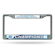 NCAA North Carolina Tar Heels 2017 Men's National Basketball Champions Chrome Plate Frame, Carolina Blue, White, 30cm by 15cm