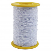 Ogrmar White Elastic Thread 547 Yard 0.5mm Thickness (1 Roll)