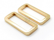 CRAFTMEmore 3.2cm 10 PCS Flat Rectangle Rings Buckle For Bag Belt Strap Webbing Heavy Duty Loop Quality Plating