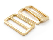 CRAFTMEmore 1SET FLAT Metal Purse Slider and Loops 1PC Slide Buckle with 2PCS Rectangular Rings Leather Craft
