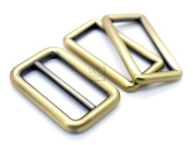 CRAFTMEmore 1SET Metal Purse Slider and Loops Set 1PC Slide Buckle with 2PCS Rectangular Rings Leather Craft